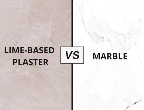 Lime based plaster vs marble