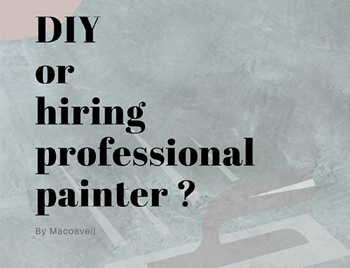 How to deide whether to do DIY or hire professional painter